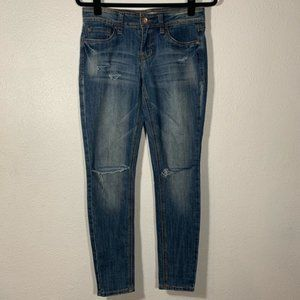 Dollhouse Distressed Skinny Mid rise Jeans Size 5